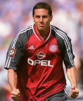 1:0 Jubel PIZARRO, Claudio<br />Fussballspieler FC Bayern München<br />Bayern München - Schalke 04 3:0