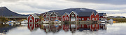 Boat houses located at Stridestraumen, Herøy, Norway | Naust i Stridestraumen, Herøy, Norge.