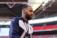 AFC Wimbledon midfielder Liam Trotter (14) walking off pitch during the The FA Cup 3rd round match between Tottenham Hotspur and AFC Wimbledon at Wembley Stadium, London, England on 7 January 2018. Photo by Matthew Redman.