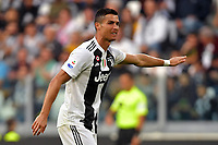 Cristiano Ronaldo of Juventus gestures during the Serie A 2018/2019 football match between Juventus and Genoa CFC at Allianz Stadium, Turin, October, 20, 2018 <br />  Foto Andrea Staccioli / Insidefoto