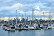 Australia, Victoria, Melbourne, St. Kilda, Melbourne Skyline