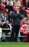 Photo. Andrew Unwin.<br /> Sunderland v Coventry, Coca-Cola Championship, Stadium of Light, Sunderland 19/03/2005.<br /> Sunderland's manager, Mick McCarthy, cannot believe it as his team give the ball away again.