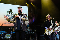 © Licensed to London News Pictures. 27/09/2012. London, UK. Mike Love (left) and Al Jardine (Right) of The Beach Boys perform live at The Royal Albert Hall, London, as part of their 50th Anniversary Tour.  It is reported that this is the final tour that Love, Wilson and Jardine will play together as The Beach Boys - with Love planning on continuing the band with different band members. Photo credit : Richard Isaac/LNP
