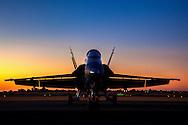 F18 Hornet at Sunrise - 2016 Capital City Airshow