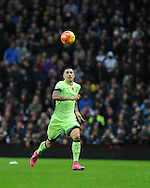 Aleksandar Kolarov of Manchester city in action. Barclays Premier league match, Aston Villa v Manchester city at Villa Park in Birmingham, Midlands  on Sunday 8th November 2015.<br /> pic by  Andrew Orchard, Andrew Orchard sports photography.