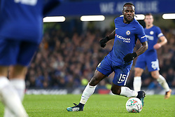 10 January 2018 - Football League Cup - Chelsea v Arsenal - Victor Moses of Chelsea looks to make a pass - Photo: Charlotte Wilson / Offside