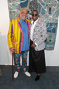 Bridgehampton, New York, NY-July 15: (L-R) Visual Artist/Author Danny Simmons, Co-founder, RUSH Philanthropic and Visual Artist Sanford Biggers (Honoree) attend The 2017 RUSH Philanthropic's  Art For Life held at Fairview Farms on July 15, 2017 in Bridgehampton, New York. (Photo by Terrence Jennings/terrencejennings.com)