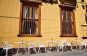 Terrace ready for dinertime, Valparaíso, Chile