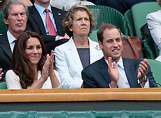 Duke and Duchess of Cambridge at Wimbledon-2012