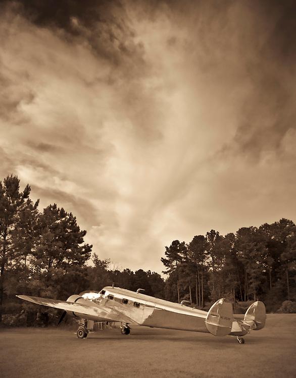 Restored Lockheed 12A Electra Junior...under a summer sky.