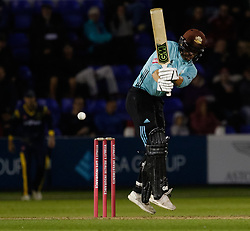 Surrey's Rory Burns in action today <br /> <br /> Photographer Simon King/Replay Images<br /> <br /> Vitality Blast T20 - Round 14 - Glamorgan v Surrey - Friday 17th August 2018 - Sophia Gardens - Cardiff<br /> <br /> World Copyright © Replay Images . All rights reserved. info@replayimages.co.uk - http://replayimages.co.uk