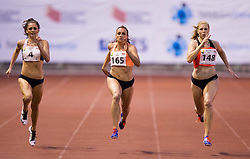 Ella Neslon of Australia, Sabina Veit and Maja Mihalinec of Slovenia compete at 200m Women during 20th European Athletics Classic Meeting in Honour of Miners' Day in Velenje on July 1, 2015 in Stadium Velenje, Slovenia. Photo by Vid Ponikvar / Sportida
