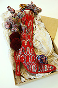 The specially designed Christmas stocking for The Times of London by the Italian designer Angela Missoni, owner of the Missoni fashion house based in Varese and famous for its unique knitwear, made from a variety of fabrics in colourful patterns, are photographed in her atelier in Sumirago (VA) on Thursday, December 3rd, 2009.