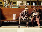Elderly Couple, Hoboken Railway Station, New York City