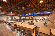 Interior photography of the House of Pinz Bowling Alley in Douglas, Wyoming.