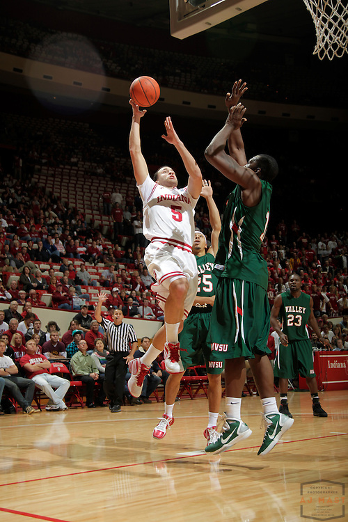 16 November 2010: Indiana guard Jeremiah Rivers (5) as the Indiana Hoosiers played the Mississippi Valley State Delta Devils in a college basketball game in Bloomington, Ind.