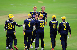 Hampshire celebrate the wicket of Lewis Gregory.  - Mandatory by-line: Alex Davidson/JMP - 02/08/2016 - CRICKET - The Ageas Bowl - Southampton, United Kingdom - Hampshire v Somerset - Royal London One Day