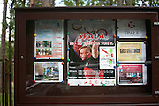 Poster board advertising the Spala Sports Center for Olympic training. Spala Central Poland