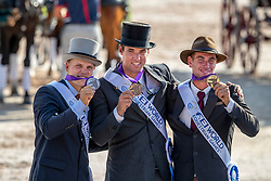 Team Belgium, Bronze Medal, Glenn Geerst, Edouard Simonet, Dries Degrieck<br /> World Equestrian Games - Tryon 2018<br /> © Hippo Foto - Dirk Caremans<br /> 23/09/2018