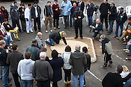 Tinsley Green, Crawley - Friday April 2nd, 2010: Spectators watch as Witney Lapic from the USA gets her team, the One-Off Wonders, into the quarter finals during the World Marble Championships at the The Greyhound, Tinsley Green, Crawley. (Pic by Andrew Tobin/Focus Images)