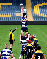 Sale Sharks U18 win the ball from the line out - Mandatory by-line: Robbie Stephenson/JMP - 29/01/2017 - RUGBY - Sixways Stadium - Worcester, England - Worcester Warriors U18 v Sale Sharks U18 - Premiership Rugby U18 Academy League