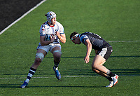 Rugby Union - 2020 / 2p021 Gallagher Premiership - Round 16 - Newcastle Flacons vs Bristol Bears - Kingston Park<br /> <br /> Fitz Harding of Bristol Bears is tackled by Pete Lucock of Newcastle Falcons<br /> <br /> Credit: COLORSPORT/BRUCE WHITE