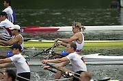 2002 FISA World Cup. Hazewinkel. BEL.       Friday  14/06/2002     .email images@Intersport-images.com.[Mandatory Credit: Peter Spurrier/Intersport Images]  .                                 /06/2002.Rowing    .SLO M2X .Luka SPIK (b) , Gregor NOVAK (s) Rowing, FISA WC.Hazenwinkel, BEL
