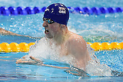 Max Litchfield of Great Britain in the 400m Medley during day 14 of the 33rd  LEN European Aquatics Championship Swimming Finals 2016 at the London Aquatics Centre, London, United Kingdom on 22nd May 2016. Photo by Martin Cole.