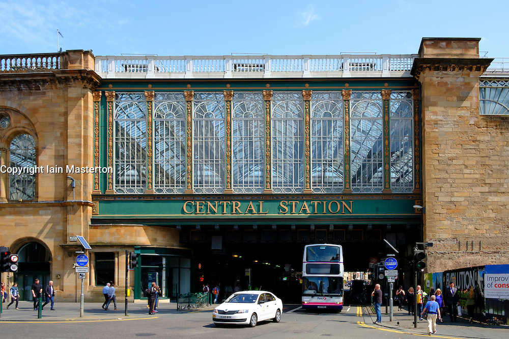 View of railway bridge across Argyll Street at Central Station commonly known as Highland Man;'s Umbrella in Glasgow United kingdom