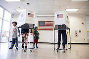 WASHINGTON, USA - November 8: Voters fill out their ballots at a polling place in Loudon County High School during the 2016 Presidential Elections in Leesburg, Va., USA on November , 2016.