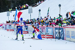 Jouve Richard and Gros Baptiste of France during Mans 1.2 km Free Sprint race at FIS Cross Country World Cup Planica 2016, on January 16, 2016 at Planica, Slovenia. Photo By Grega Valancic / Sportida