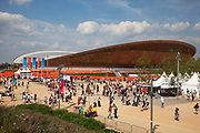 London, UK. Thursday 9th August 2012. London 2012 Olympic Games Park in Stratford. The velodrome.