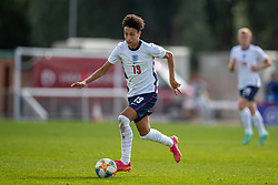NEWPORT, WALES - Friday, September 3, 2021: England's Kaide Gordon during an International Friendly Challenge match between Wales Under-18's and England Under-18's at Spytty Park. (Pic by David Rawcliffe/Propaganda)