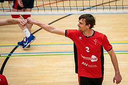 Robert Jansen of VCN in action during the league match ComputerPlan VCN - RECO ZVH on January 16, 2021 in Capelle aan de IJssel.
