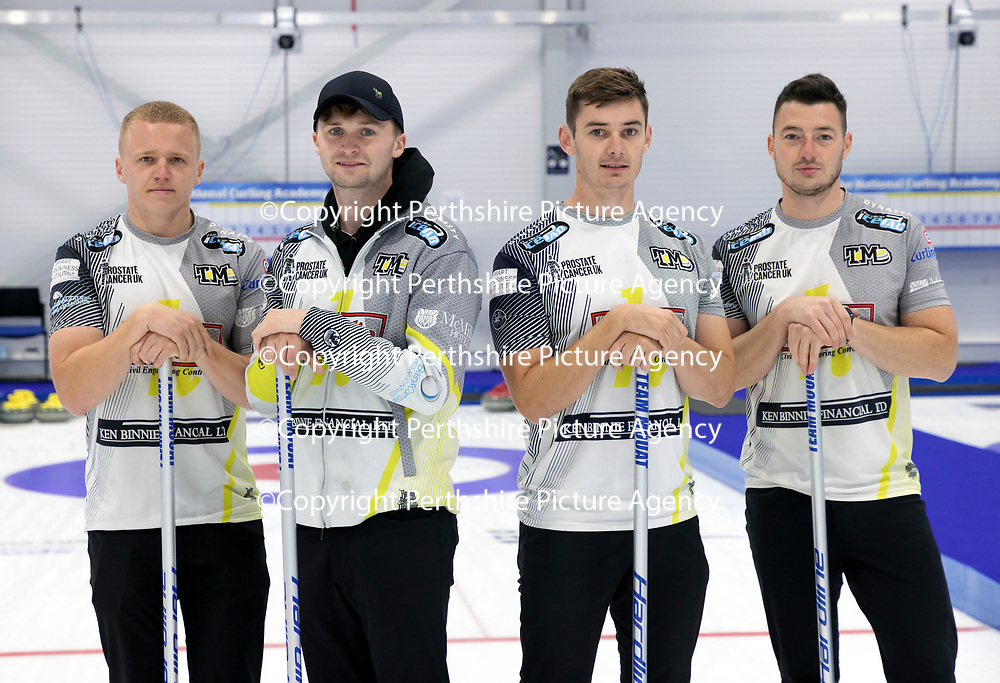 Euro Super Series Curling Finals....<br />Team Mouat pictured from left, Bobby Lammie, Bruce Mouat, Grant Hardie and Hammy McMillan<br />Picture by Graeme Hart.<br />Copyright Perthshire Picture Agency<br />Tel: 01738 623350  Mobile: 07990 594431