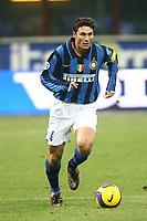 """Javier Zanetti (Inter)<br /> Milano 3/2/2008 Stadio """"Giuseppe Meazza"""" <br /> Campionato Italiano Serie A<br /> Inter-Empoli (1-0)<br /> Foto PaperMg Insidefoto"""