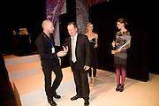 STEPHEN MONGAN; JEVGENI PANTELEJEV; LAURA BAILEY, FashionExpo, fashion show and Awards. Business Design Centre, Upper st. London. 19 November 2008.  *** Local Caption *** -DO NOT ARCHIVE -Copyright Photograph by Dafydd Jones. 248 Clapham Rd. London SW9 0PZ. Tel 0207 820 0771. www.dafjones.com