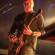 """COLUMBIA, MD - July 17th, 2014 - Josh Homme of Queens of the Stone Age performs at Merriweather Post Pavilion. The band's 2013 album, """"…Like Clockwork,"""" was the group's first album to top the US Billboard 200 album charts. (Photo by Kyle Gustafson / For The Washington Post)"""