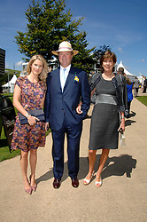 Left to right, LADY KINVARA BALFOUR and her parents the EARL & COUNTESS OF BALFOUR at the 4th day of the Glorious Goodwood racing festival 2007 held at Goodwood Racecourse, West Sussex on 3rd August 2007.<br />