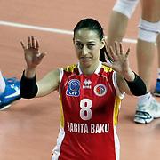 Rabita BAKU's Silvija POPOVIC during their Women's Volleyball CEV Champions League semi final match at Burhan Felek Arena in Istanbul, Turkey on 20 March 2011. Photo by TURKPIX