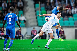 Andraž Šporar of Slovenia during the 2020 UEFA European Championships group G qualifying match between Slovenia and Israel at SRC Stozice on September 9, 2019 in Ljubljana, Slovenia. Photo by Grega Valancic / Sportida