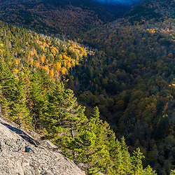 Fall foliage on Mount Madision in New Hampshire's White Mountain National Forest. View from Dome Rock.