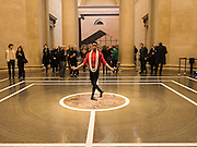 DANCER, Historical Dances in an  antique setting., Pable Bronstein. Annual Tate Britain Duveens commission.  London. 25 April 2016