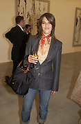 Tracey emin, Cy Twombly at the new Gagosian Gallery, Britannia St. 27 May 2004. ONE TIME USE ONLY - DO NOT ARCHIVE  © Copyright Photograph by Dafydd Jones 66 Stockwell Park Rd. London SW9 0DA Tel 020 7733 0108 www.dafjones.com