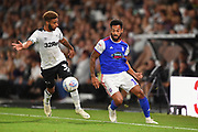 Ipswich Town midfielder Jordan Roberts (19) during the EFL Sky Bet Championship match between Derby County and Ipswich Town at the Pride Park, Derby, England on 21 August 2018.