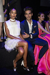 Laura Harrier, Jon Kortajarena attend the fashion show during Bvgalri Gala Dinner held at the Stadio dei Marmi in Rome, Italy on June 28, 2018. Photo by Marco Piovanotto/ABACAPRESS.COM