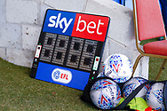 Skybet board during the EFL Sky Bet League 1 match between Accrington Stanley and Portsmouth at the Fraser Eagle Stadium, Accrington, England on 27 October 2018.