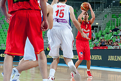 Jaime Fernandez of Spain during basketball match between National teams of Serbia and Spain in Placement match for 3rd place of U20 Men European Championship Slovenia 2012, on July 22, 2012 in SRC Stozice, Ljubljana, Slovenia. (Photo by Urban Urbanc / Sportida.com)
