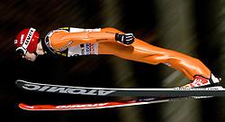 Matti Hautamaeki (FIN) competes during Qualification round of the FIS Ski Jumping World Cup event of the 58th Four Hills ski jumping tournament, on January 5, 2010 in Bischofshofen, Austria. (Photo by Vid Ponikvar / Sportida)