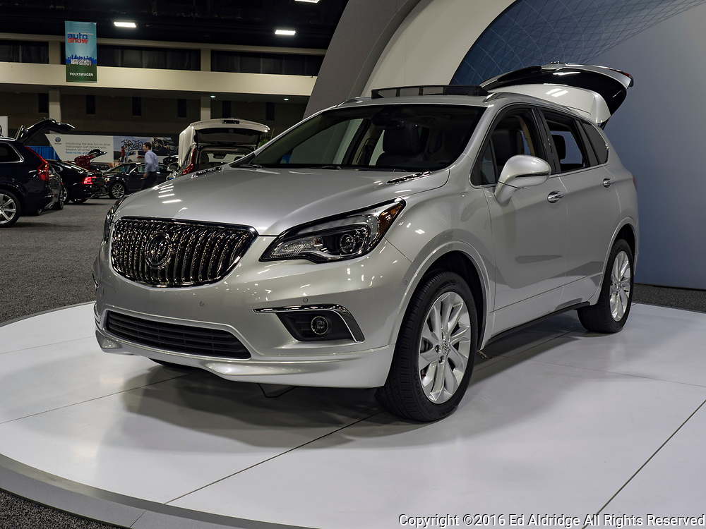 CHARLOTTE, NC, USA - NOVEMBER 17, 2016: Buick Envision on display during the 2016 Charlotte International Auto Show at the Charlotte Convention Center in downtown Charlotte.